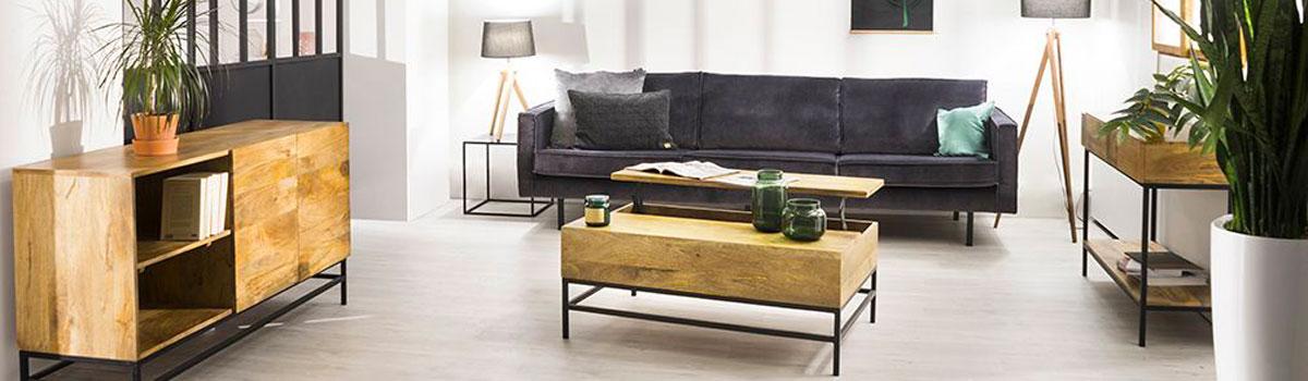 table basse relevable industrielle